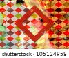 grunge colored checkered, abstract background - stock photo