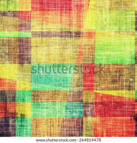 Grunge colorful background or old texture for creative design work. With different color patterns: yellow (beige); green; blue; red (orange) - stock photo