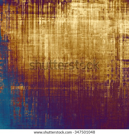 Grunge colorful background or old texture for creative design work. With different color patterns: yellow (beige); brown; blue; purple (violet) - stock photo