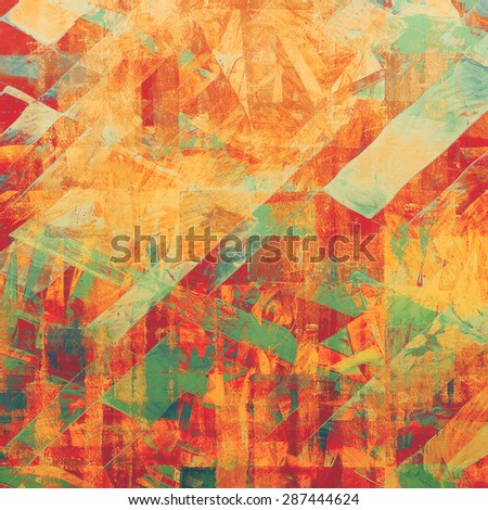 Grunge colorful background. With different color patterns: yellow (beige); brown; red (orange); green - stock photo