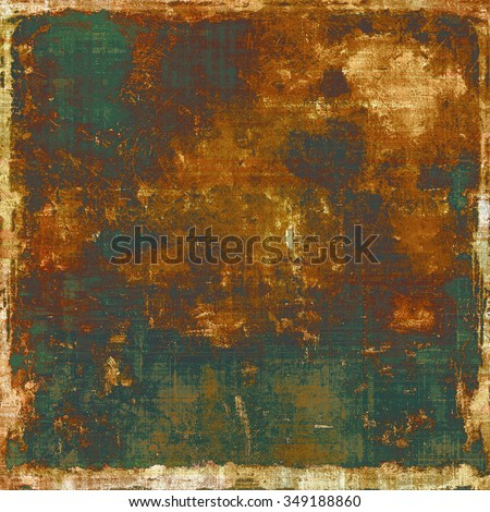 Grunge colorful texture for retro background. With different color patterns: yellow (beige); brown; gray; green - stock photo