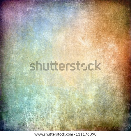 Grunge colorful texture, scratched dirty surface - stock photo
