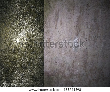 Grunge Concrete background with grunge rusty metal edges. Design template - stock photo