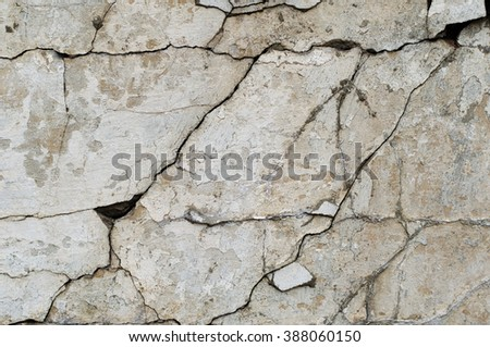 Grunge concrete cement gray wall with cracks