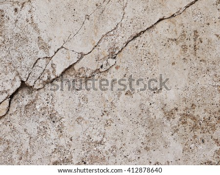 Grunge concrete cement wall with crack in industrial building, great for your design and texture background