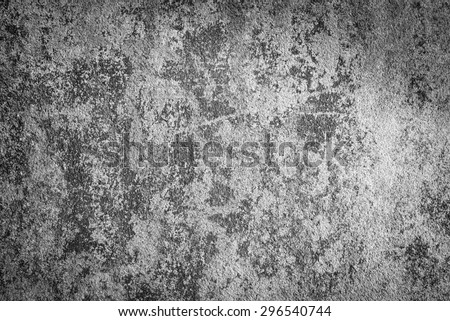 Grunge concrete texture black and white color - stock photo