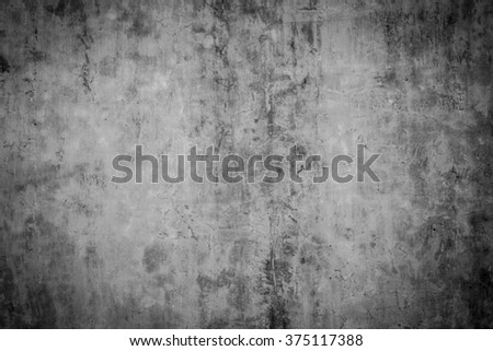 grunge concrete wall background, with vignette - stock photo