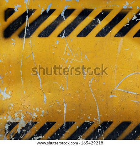 Grunge construction sign for background.