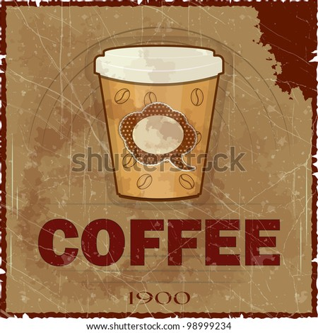 Grunge Cover for Coffee Menu - JPEG version - stock photo