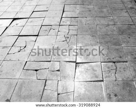 grunge crack floor - stock photo