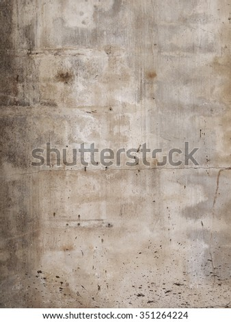 Grunge cracked cement wall - stock photo