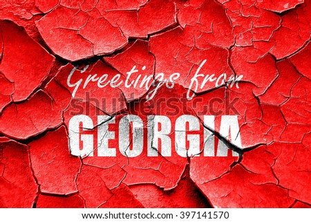 Grunge cracked Greetings from georgia