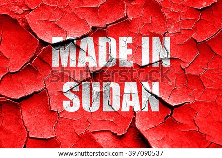 Grunge cracked Made in sudan