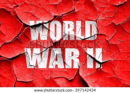 Grunge cracked World war 2 background - stock photo