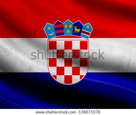 Grunge Croatia flag - stock photo