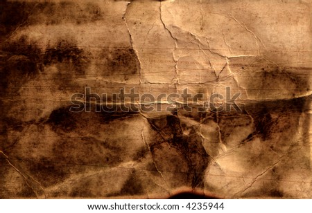 grunge crumple paper - stock photo