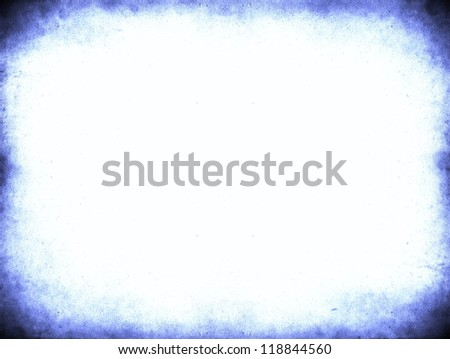 Grunge dark blue frame with space for text or image - stock photo