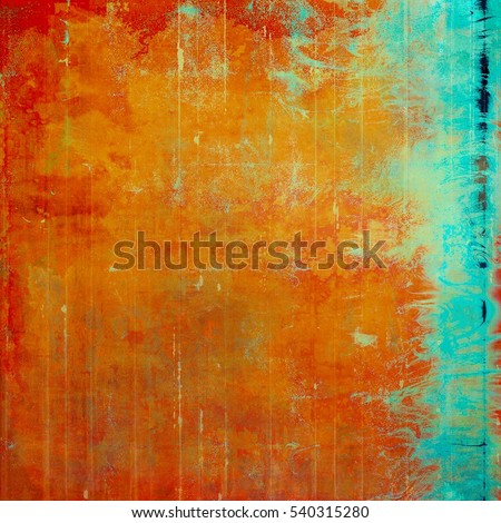 Grunge design composition over ancient vintage texture. Creative background with different color patterns: yellow (beige); brown; red (orange); green; blue