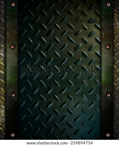 grunge diamond metal background - stock photo