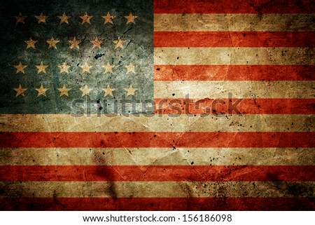 Grunge dirty flag of United States of America - stock photo