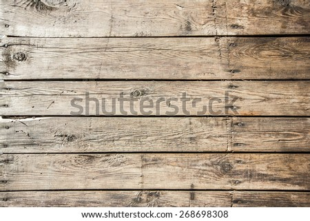 Grunge dirty old wooden surface texture. - stock photo