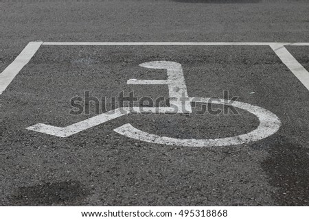 Grunge disabled parking sign