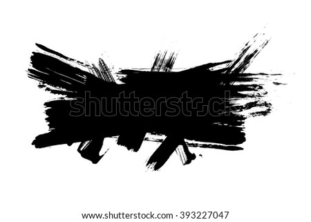 Grunge distressed paintbrush strokes background banner element illustration
