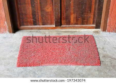 grunge door mat - stock photo
