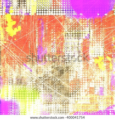 Grunge dotted texture background. Red, violet and yellow tones. - stock photo