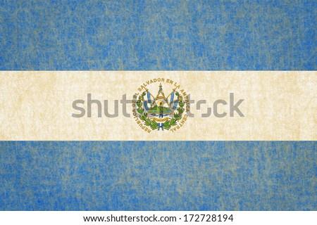Grunge El Salvador Flag - stock photo