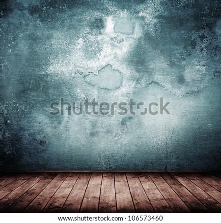 grunge empty interior room. - stock photo