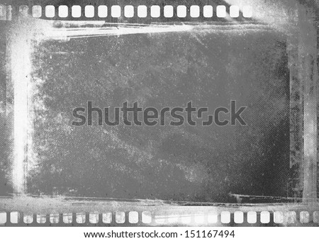 grunge film negative  - stock photo