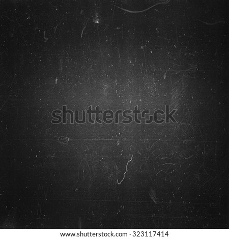 Grunge film negative background, square format and vignetted - stock photo