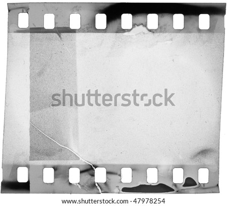 grunge filmstrip, may use as a background - stock photo