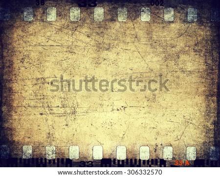 Grunge filmstrip texture - stock photo