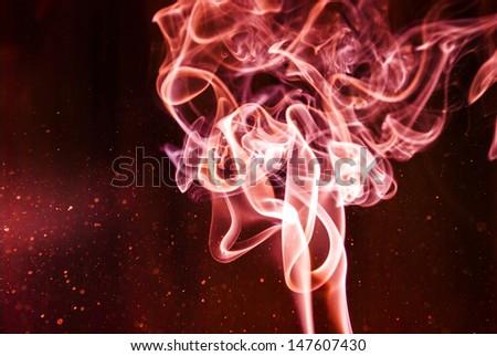 Grunge fire bokeh background - stock photo