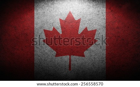 grunge flag of Canada - stock photo