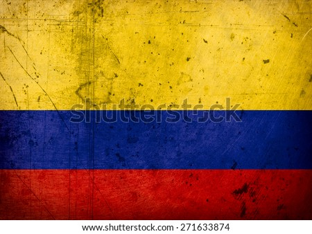 grunge-flag of  Colombia  - stock photo
