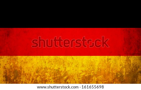 Grunge flag of European country Germany