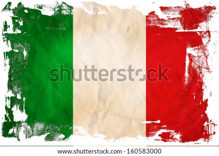 Grunge flag of European country Italy