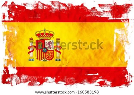 Grunge flag of European country Spain - stock photo
