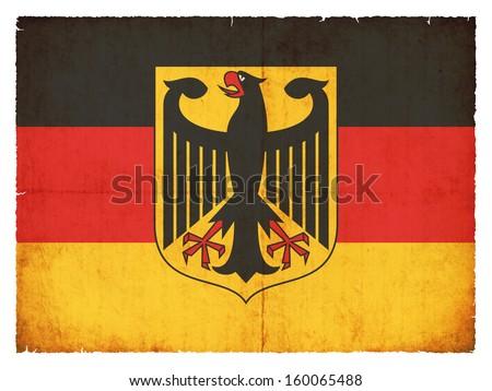 Grunge flag of Germany - stock photo