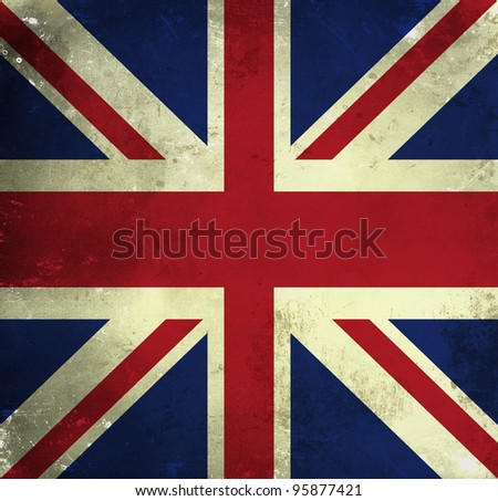 Grunge flag of Great Britain - stock photo