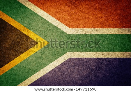 Grunge Flag of South Africa - stock photo