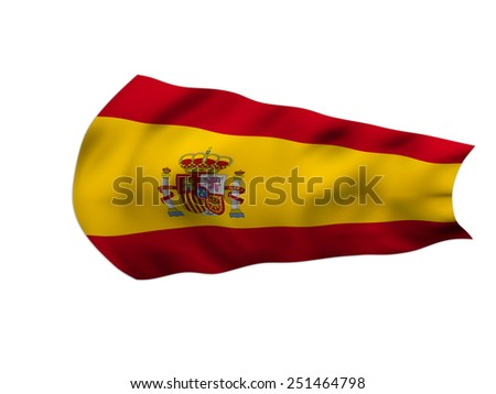 Grunge Flag of Spain in the wind - stock photo