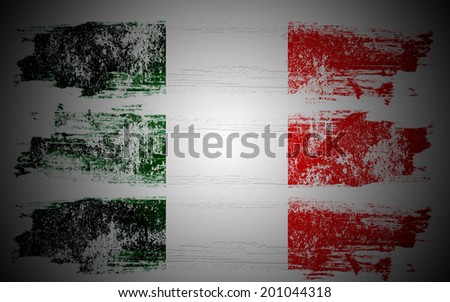 Grunge flag of the Italy - stock photo
