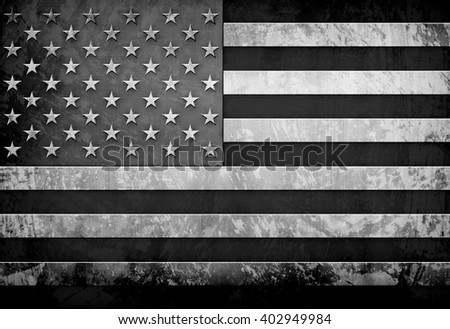Grunge Flag Of USA  - stock photo
