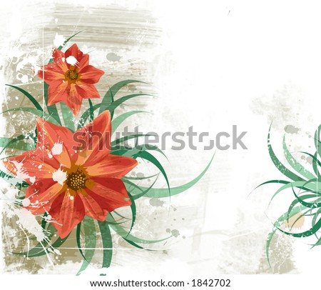 Grunge floral background. See similar pictures in my portfolio.