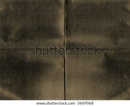grunge folded paper - stock photo