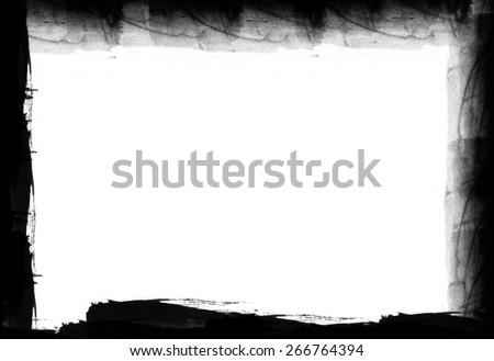 Grunge frame - design elements - stock photo